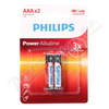 Baterie Power Alkaline AAA PHILIPS LR03P2B-10 2ks