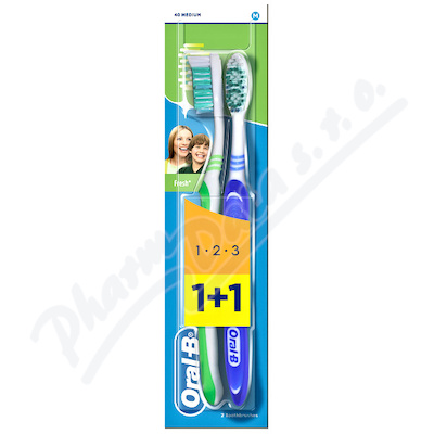 Oral-B zubní kart. 3Effect Natural Fresh 1+1